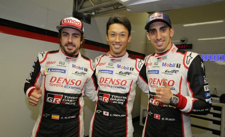 Fernando Alonso Lead the Winning team at Le Mans 2018