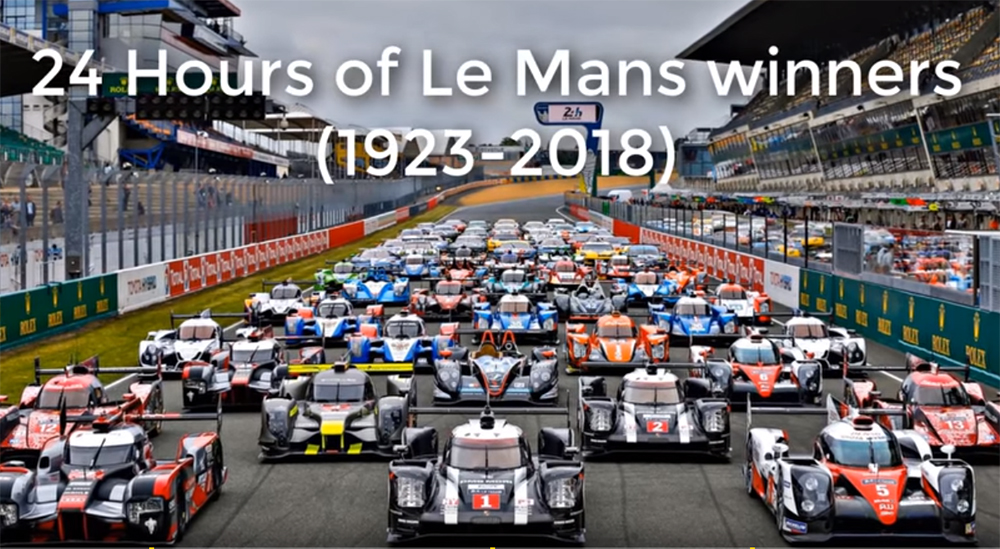 24H Le Mans Winning Cars